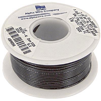 Alpha Wire - 3050 BK005 - Black 300 V -40 degC 0.057 in. 0.016 in. 7 ...