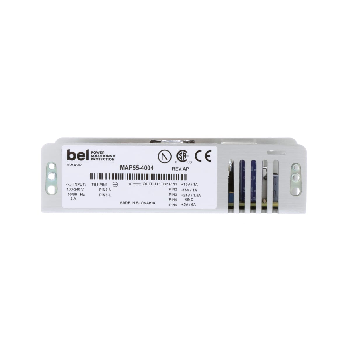 Bel Power Solutions Map55 4004 Supply Ac Dc 5v6a 15v 5v System Protected From 24v Supplies Close