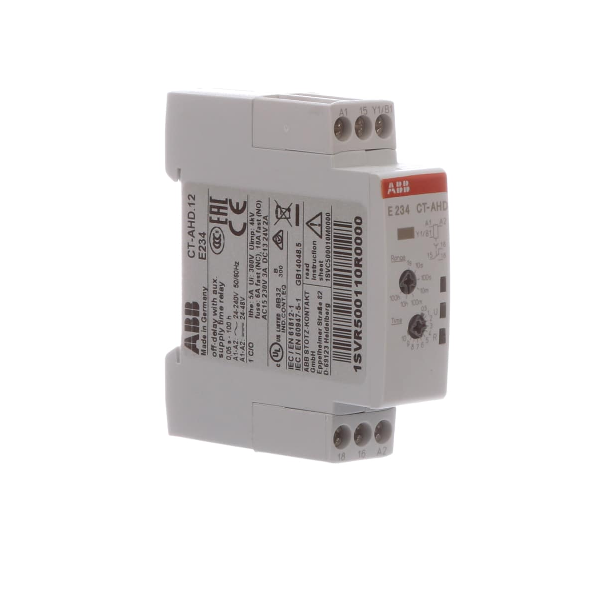 Abb 1svr500110r0000 Time Delay Relay Off Din Rail Spdt Timer Circuit Close