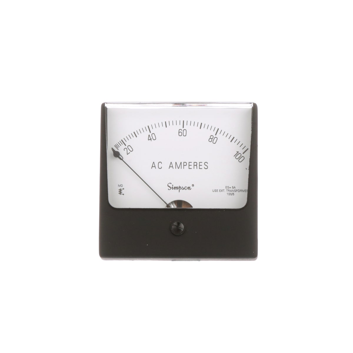 Simpson 03220 Panel Meter Ammeter E Mech Analog Range 0 Barometer Signal Conditioner Close