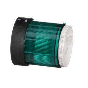 INDICATOR; LIGHT TOWER; 70 MM; LENS UNIT; STEADY GREEN; UP TO 250 V; BLACK HSG.