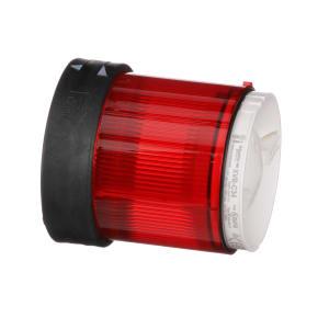 INDICATOR; LIGHT TOWER; 70 MM; LENS UNIT; STEADY RED; UP TO 250 V. BLACK HSG.