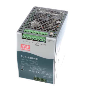 Power Supply; AC-DC; 48V; 10A; 100-264V In; Enclosed; DIN Rail; PFC; 480W; SDR Series