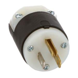 Insulgrip Straight Blade Plug; Pin Cont; 5-15P NEMA; 3 Cond; 2 Poles; Screw
