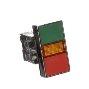 Pushbutton Operator; Illum'd.; Green/Red Sq.Flush; Amber LED; 22mm; 24VAC/VDC