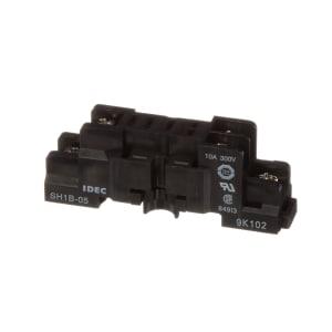 Relay Socket; 8 Pin; 2 Pole; 250 VAC; 1.063 in.; 10 A; 1.22 in.; 0.707 in.; 0.102 in.