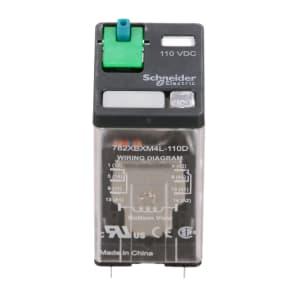 Relay; 15 A; 110/125 VDC @+25C; DPDT; 11000Ohms; Solder/Plug In; 0.1 in.
