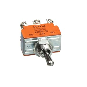 Toggle Switch; DPDT; ON-OFF-ON; Non-Illum; 17.50mm Actuator; 20A; 125VAC; Screw