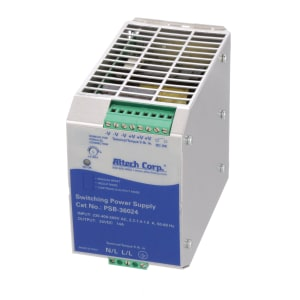 Power Supply; AC-DC; 24V; 14A; 187-550V In; Enclosed; DIN Rail Mount; 336W; PSA Series