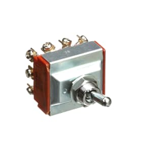 Toggle Switch; 4PDT; ON-NONE-ON; Non-Illum; 17.50mm Actuator; 20A; 125VAC; Screw