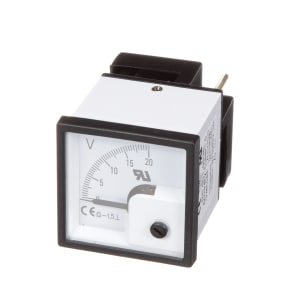 RS Pro DC Voltmeter 48x48mm 90 deg scale 20V