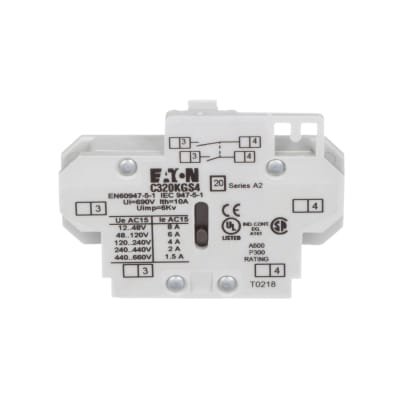 Cutler Hammer C320KGS4 Freedom Series Auxiliary Contact Block 2 N.O side mount