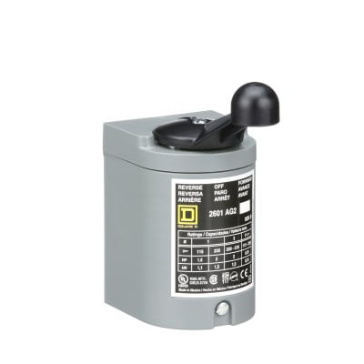 Square D - 2601AG2 - Reversing Drum Switch, 600VAC, 250VDC, 2HP,  Screw-Clamp, 2601 Series - Allied Electronics & AutomationAllied Electronics