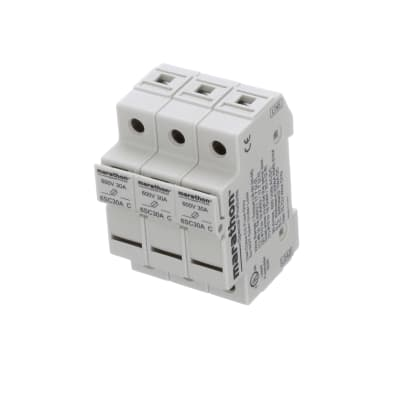 10.3 X 38MM 600V 30A Panel Mount MARATHON SPECIAL PRODUCTS 6M30A2SQ Fuse Holder