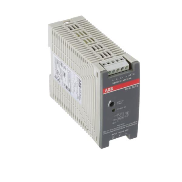 Power Supply; AC-DC; 24V; 2.5A; 90-264VIn; Enclosed; DIN Rail; Industrial; 60W; CP Series