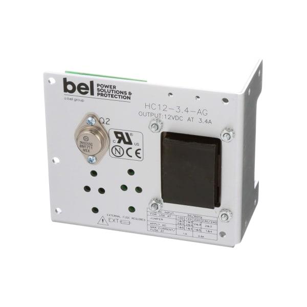 Power Supply,AC-DC,12V,3.4A,100-264V In,Open Frame,Pnl Mnt,Linear,Linear Series