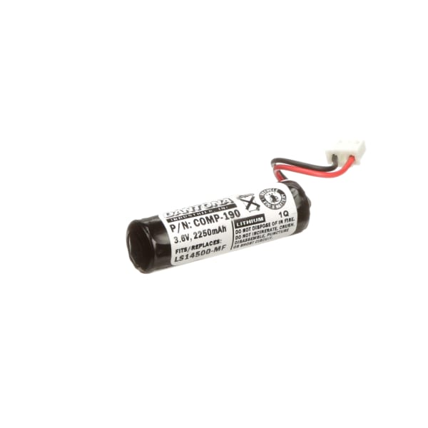 Battery, Lithium, 3.6V 2500 mAh, W/Connector, Replaces MITSUBISHI: F1, F2-40BL