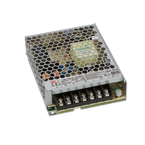 Power Supply,AC-DC,24V,4.5A100-264V In,Enclosed,Commercial,108W,LRS Series