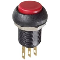 Front RED Switchcraft Pushbutton Switch SPDT Standard Panel Mount