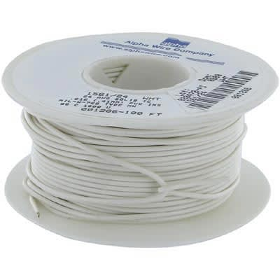 Alpha Wire Cage Code | Alpha Wire 1561 24 Wh005 Hook Up Wire 24 Awg Solid 0 016 In