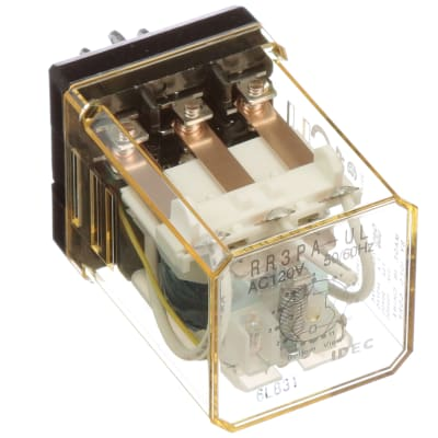 IDEC Corporation - RR3PA-ULAC120V - Relay; E-Mech; Power; 3PDT; Cur on