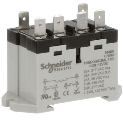 Schneider Electric/Legacy Relays - 725BXXBC3ML-12D - Relay ... on