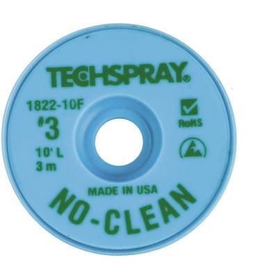 NEW Techspray 1822-100F No-Clean Desoldering Braid Green 100 ft