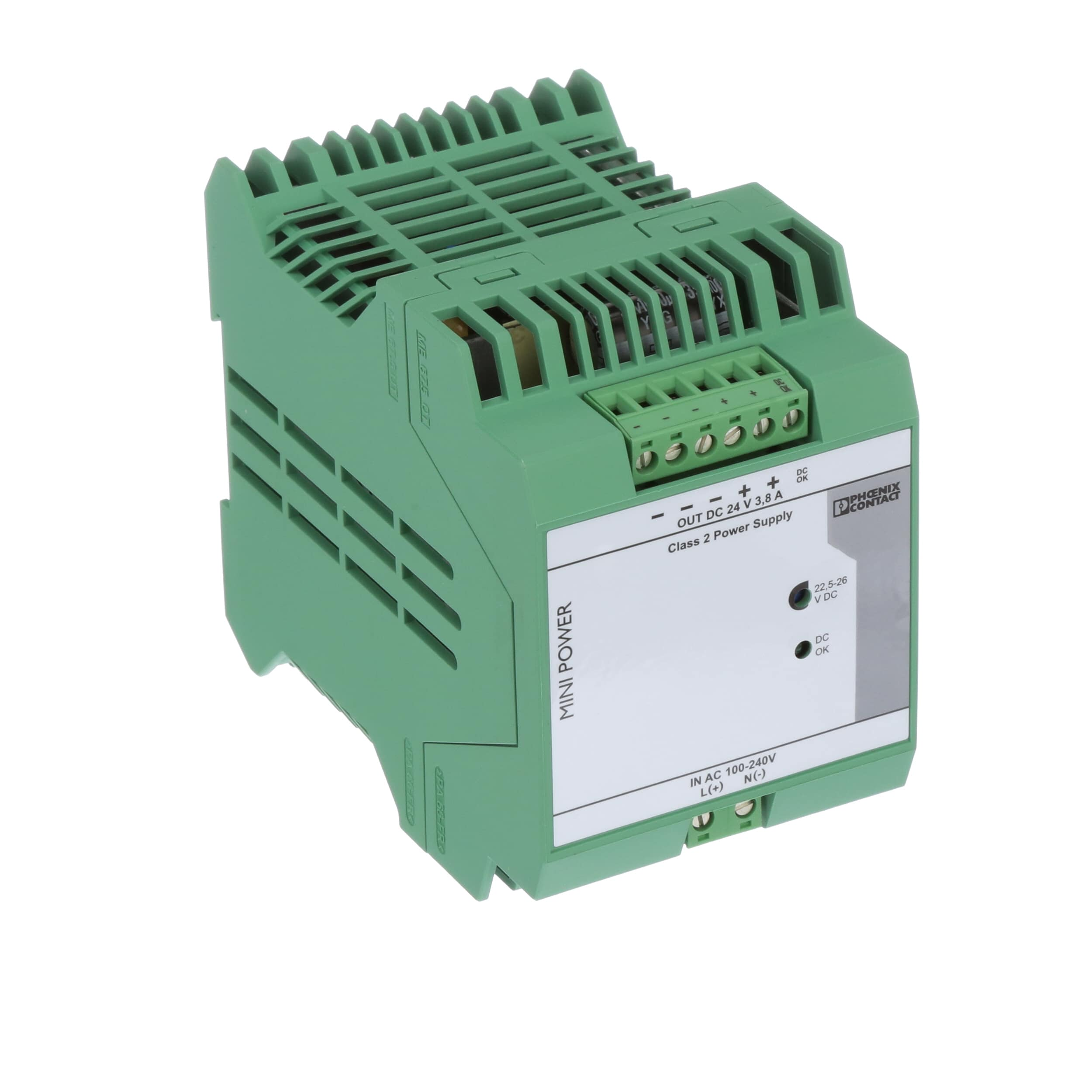 Phoenix Contact 2866336 Power Supply Ac Dc 24v 38a 85 264v 24 Volts To In Enclosed Din Rail Mount 91w Mini Series Allied Electronics Automation