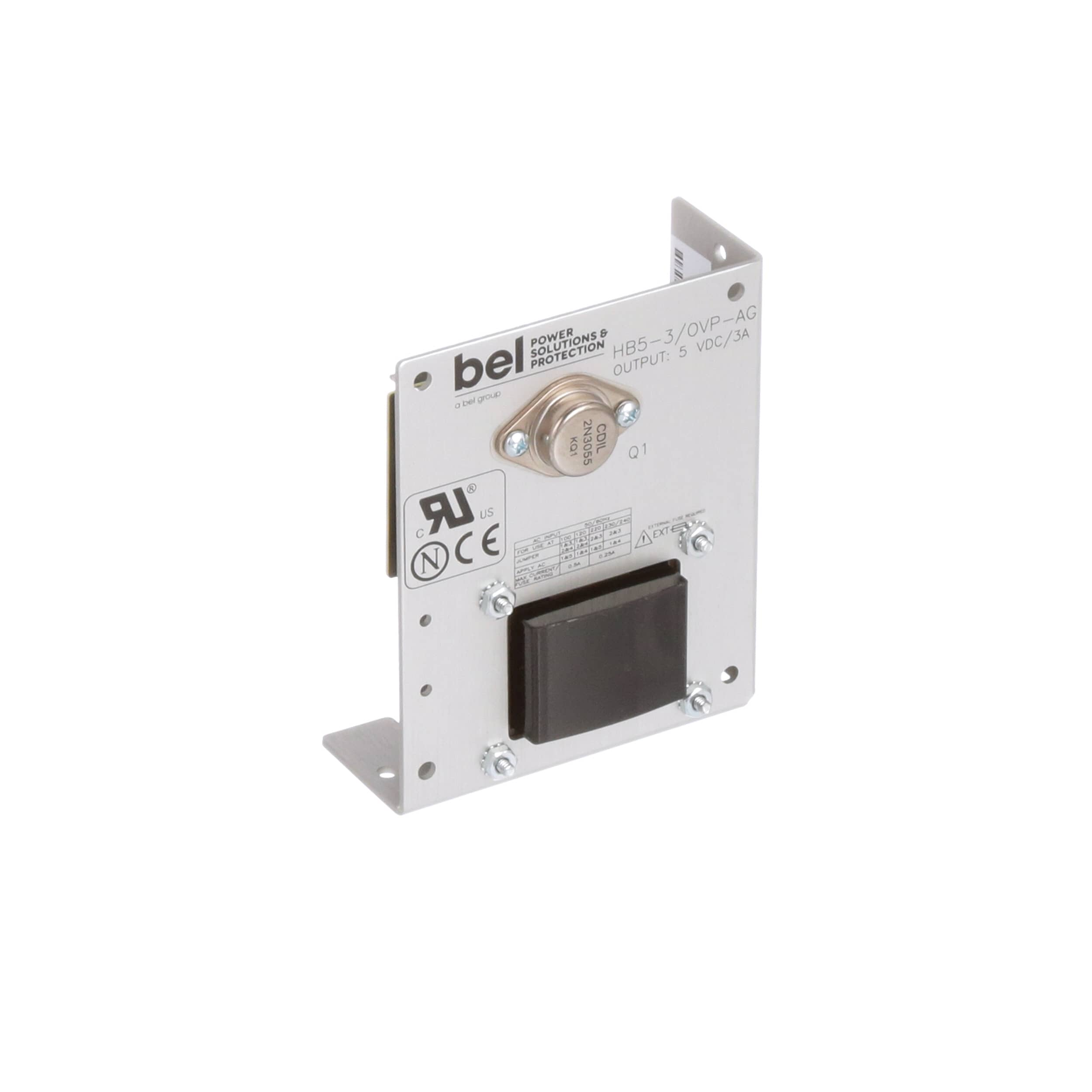 Bel Power Solutions Hb5 3 Ovp Ag Supply Ac Dc 5v 3a On Semiconductor 2n3055 Discrete Devices Datasheet 100 264v In Open Frame Panel Mount Linear Series Allied Electronics