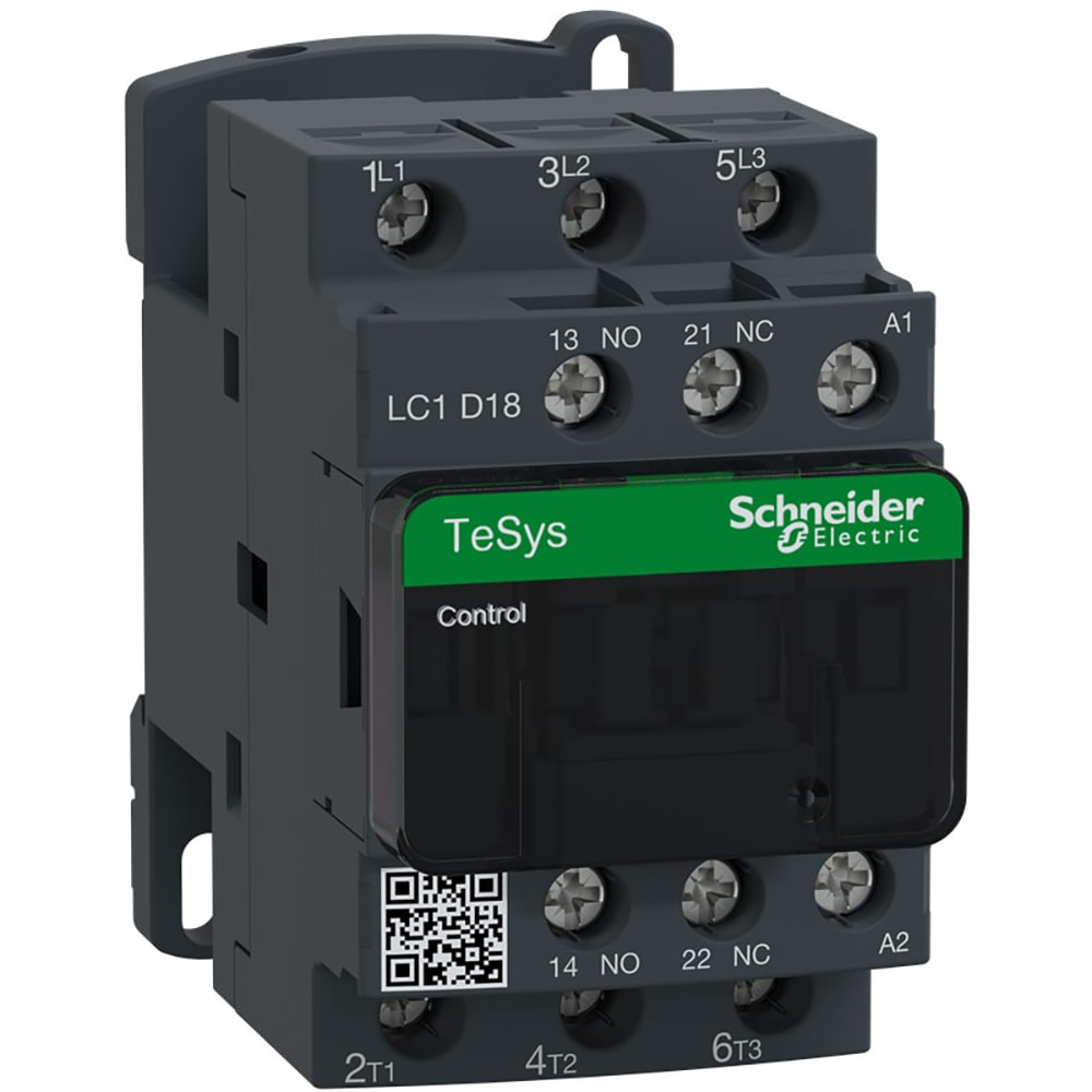 Schneider Electric Lc1d18g7 Tesys D Contactor 3p 1no 1nc 18a Relay Electrical Life Allied Electronics Automation