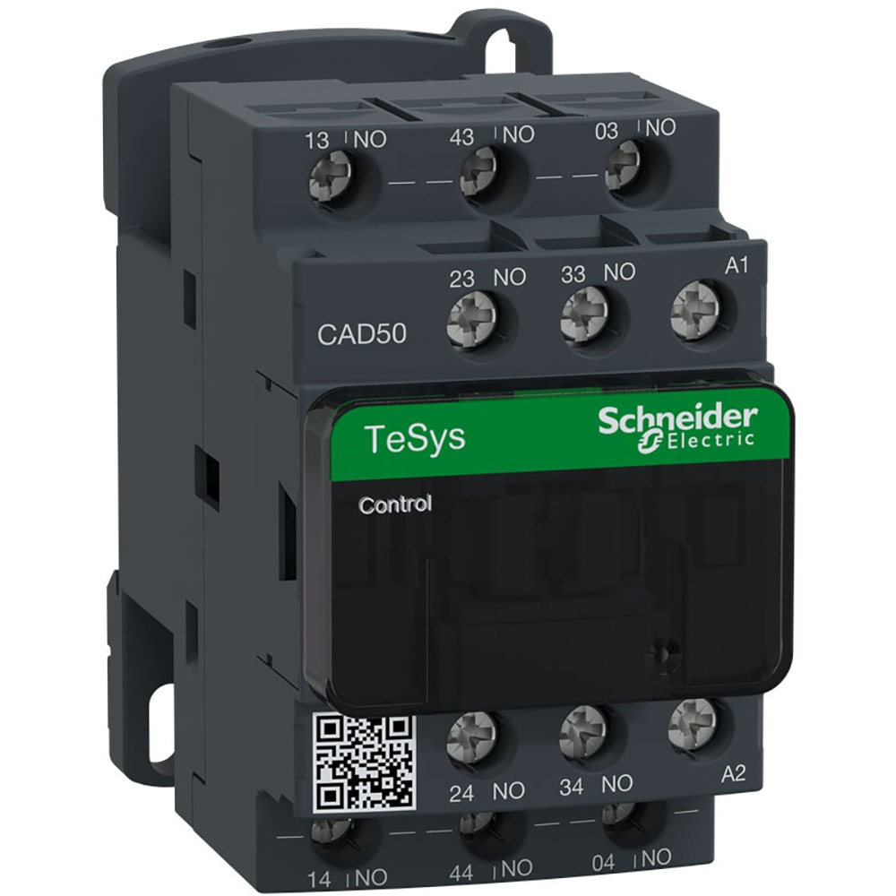 Schneider Electric Cad50g7 Contactor 10a Relay 5 No Contacts Under Current Electro Mechanical 120vac Control Allied Electronics Automation