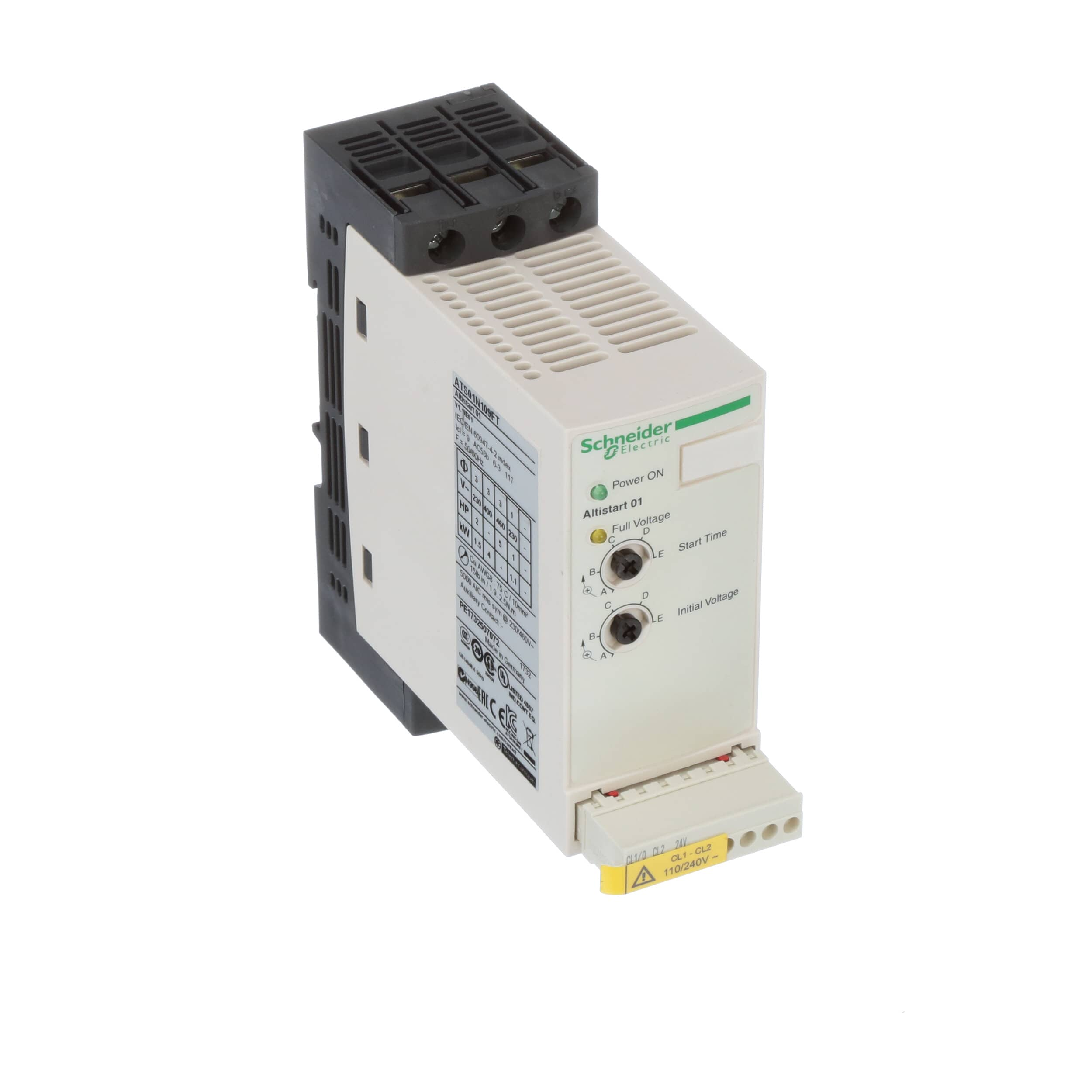 Schneider Electric Ats01n109ft Soft Starter For Asynchronous 240 3 Phase Contactor Wiring Motor 9 A 110480v 114 Kw Allied Electronics Automation