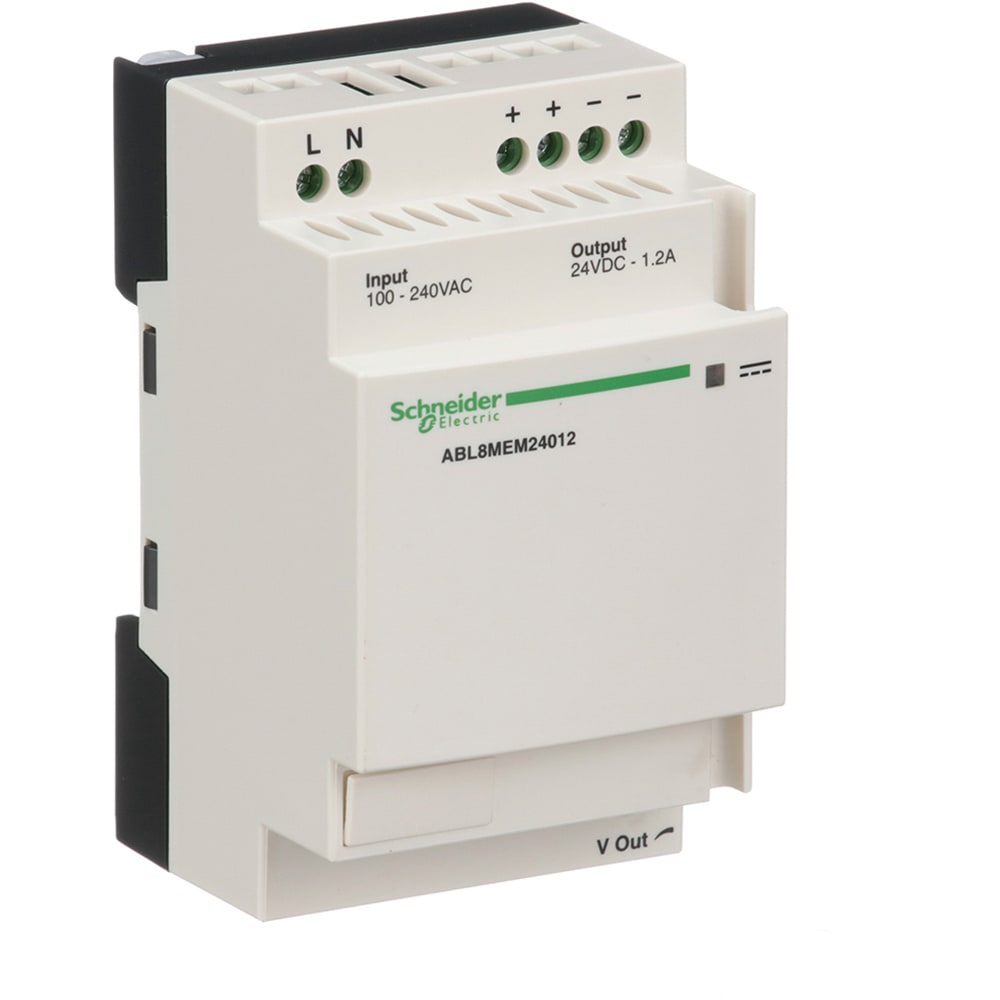 Schneider Electric Abl8mem24012 Power Supply Ac Dc 24v 12a Vdc Dip Reed Relay All Electronics Corp 85 264vin Encapsulated Din Industrial 29w Abl Series Allied