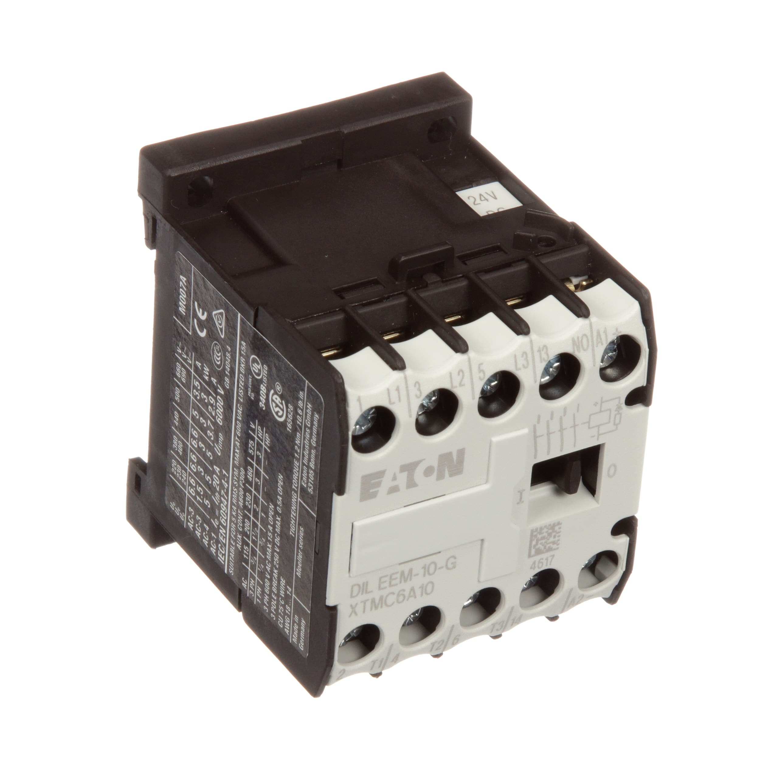 Eaton Cutler Hammer Xtmc6a10td Mini Contactor 3 Pole 6 Amp Vdc Dip Reed Relay All Electronics Corp Frame A 1no Aux 24vdc Coil Allied Automation