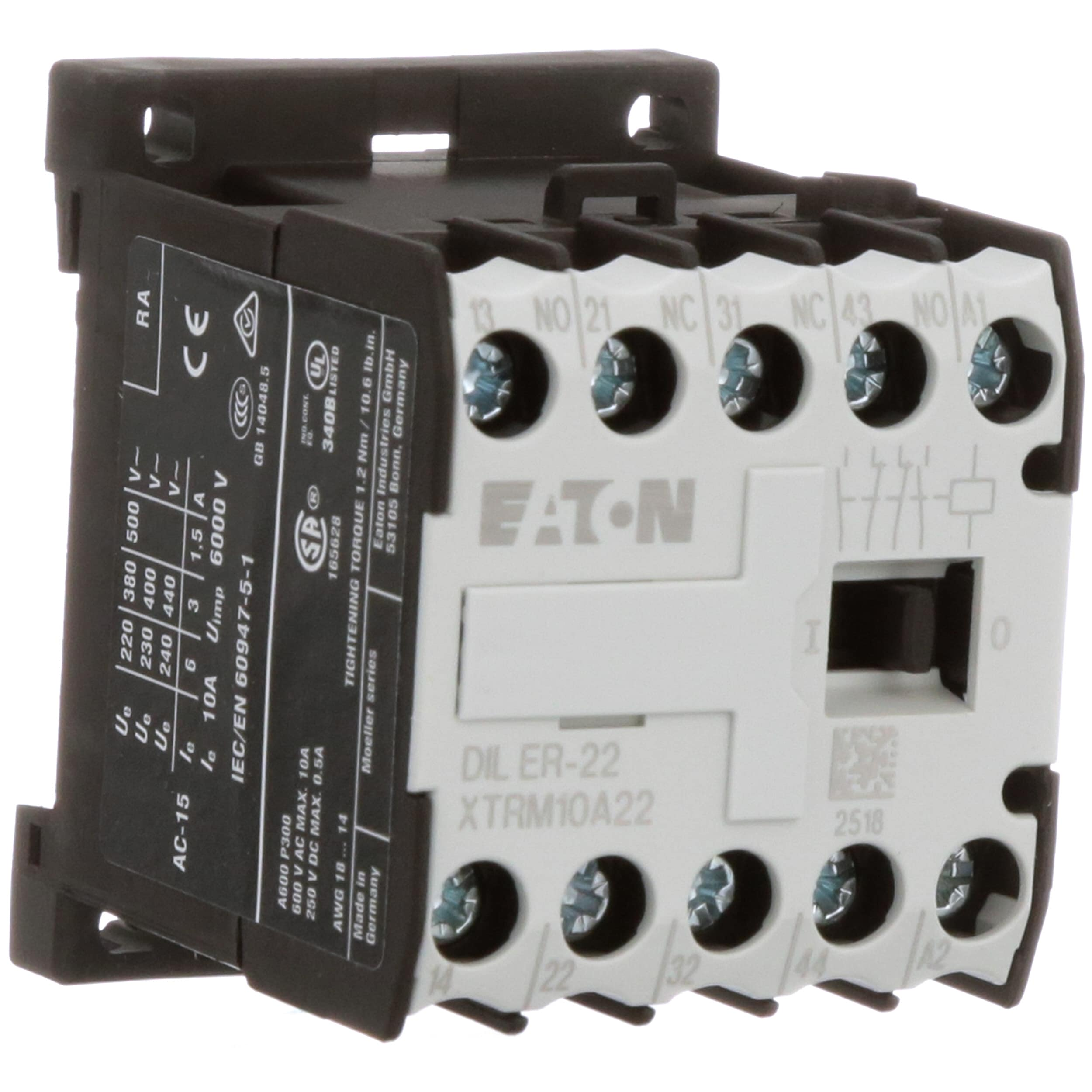 Eaton Cutler Hammer Xtrm10a22a Mini Control Relay 4 Pole 2no Current 2nc 10 Amp Frame A 120vac Allied Electronics Automation