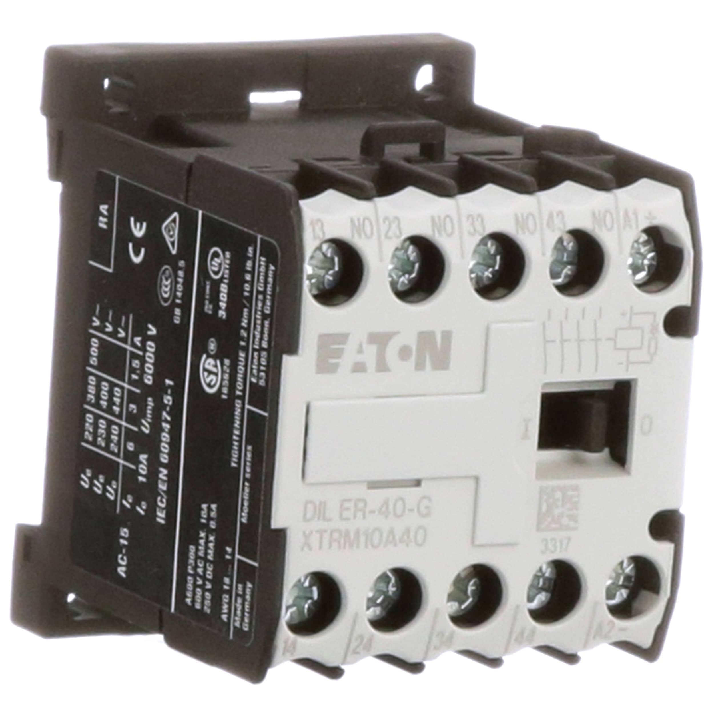 Xtrm10a40td Spstno 40 Amp 100 Vdc Typical Condition Eaton Cutler Hammer Mini Control Relay 4 Pole 4no 10 Frame A 24vdc Allied Electronics Automation