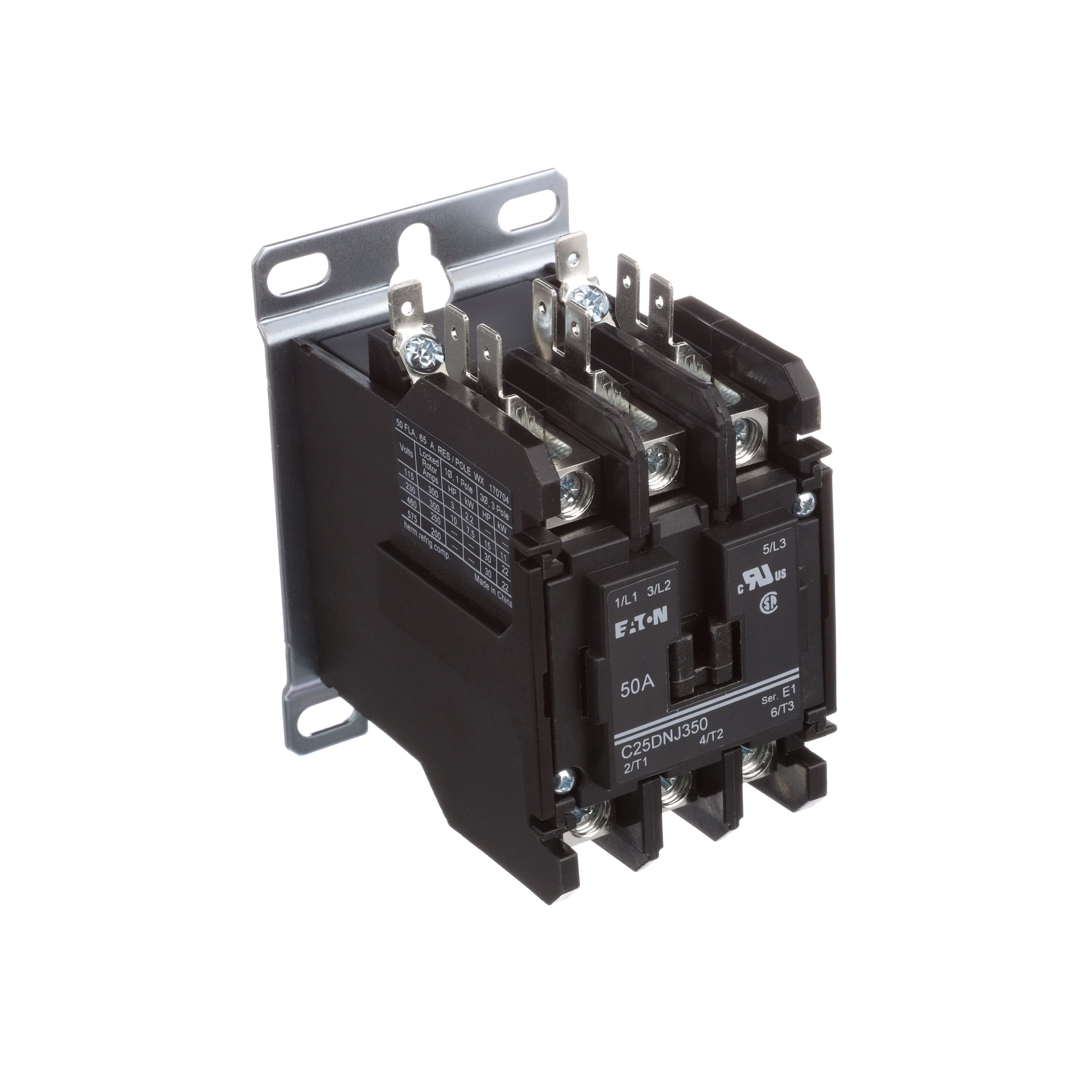 Eaton Cutler Hammer C25dnj350b Contactor Dp 3 Pole 50a Dc Circuit Breaker Toggle Style 240vac Coil Allied Electronics Automation