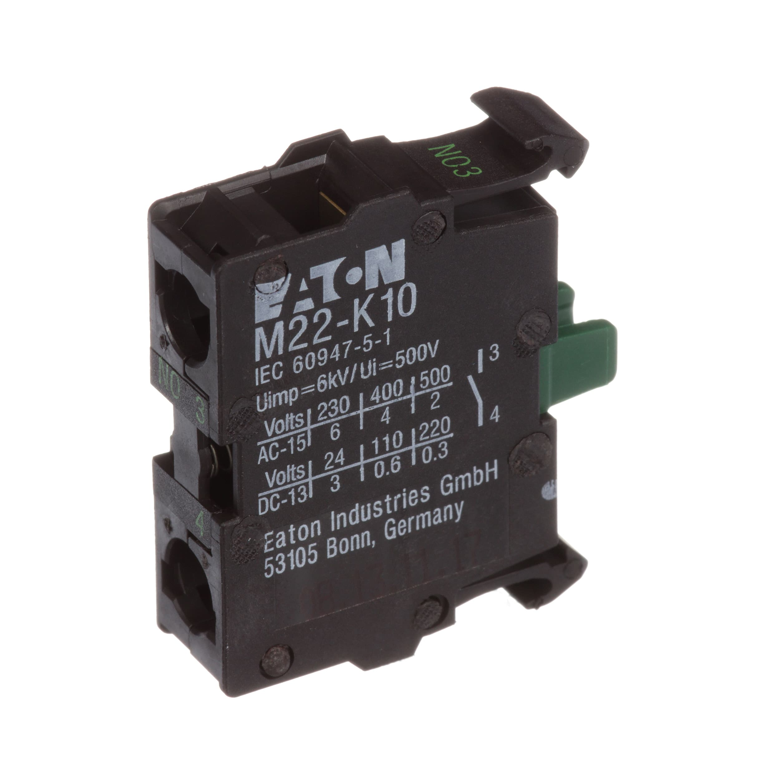 Eaton Cutler Hammer M22 K10 Switch Part Contact Block 1 No Electronic Selector Driven By Relays Screw Terminals Allied Electronics Automation