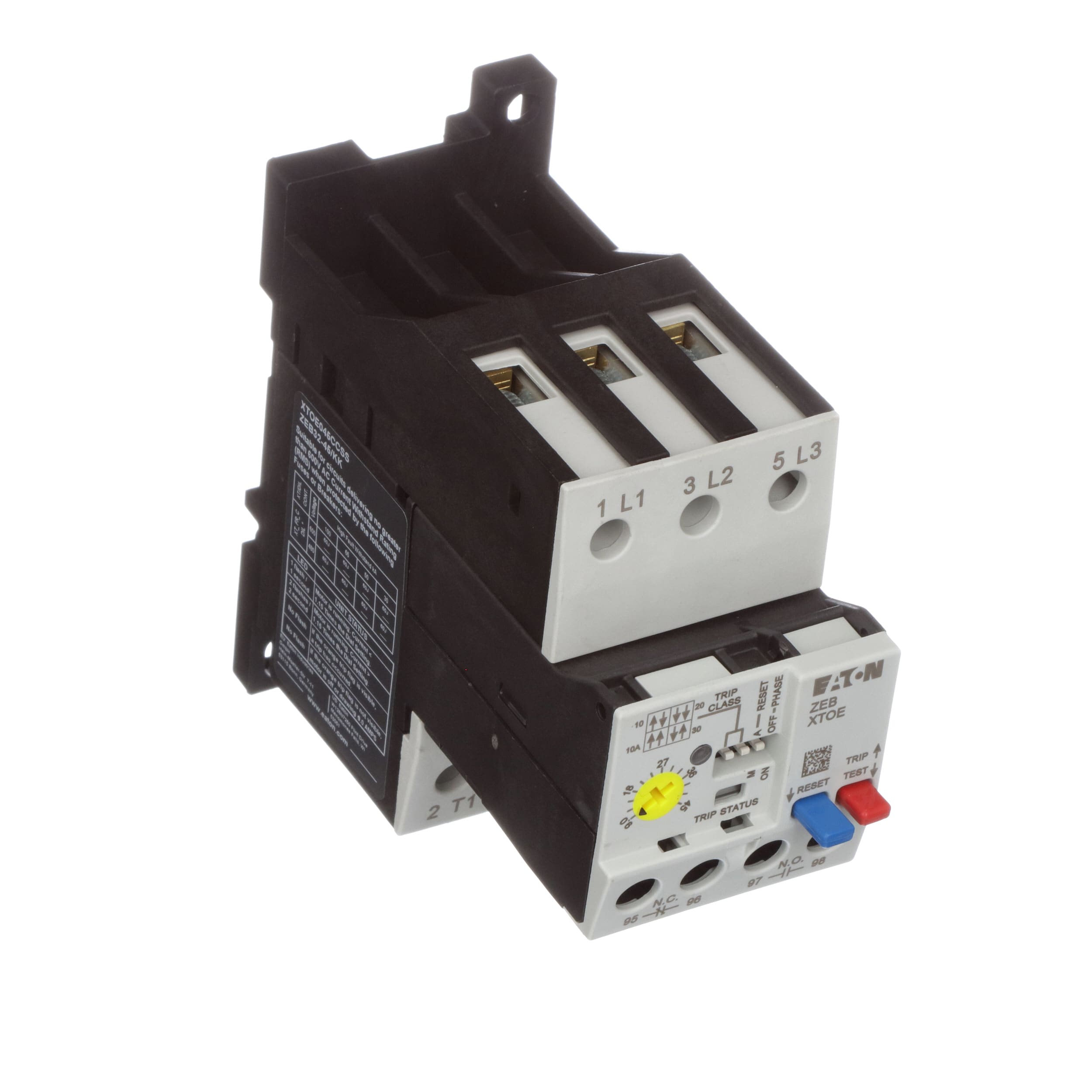Eaton Cutler Hammer Xtoe045ccss Electronic Overload Relay Electrical Wiring Diagram Also Mag Ic Contactor With Xtoe 9 45a Iec Stand Alone Allied Electronics Automation