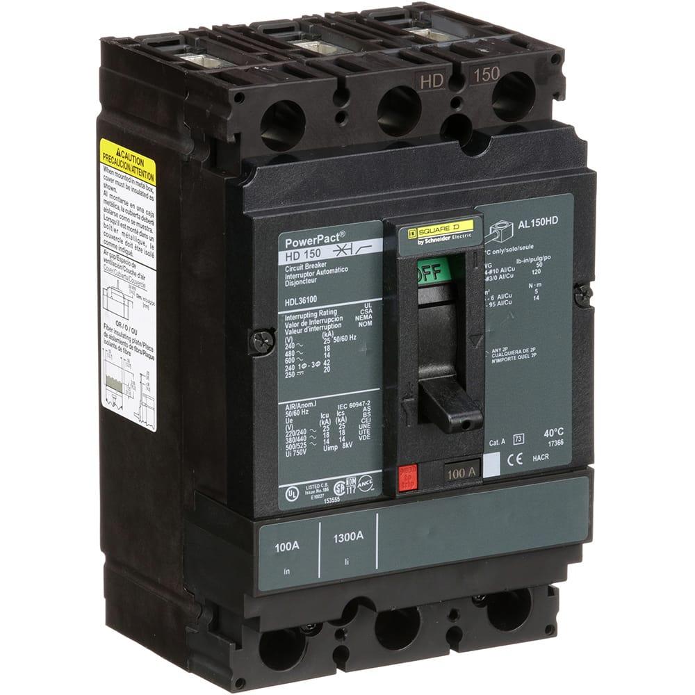 Square D Hdl36100 Circuit Breaker Molded Case 3 Pole 100 A Engine Generator Mccb Line 600vac 250vdc Unit Mount Lug Allied Electronics Automation