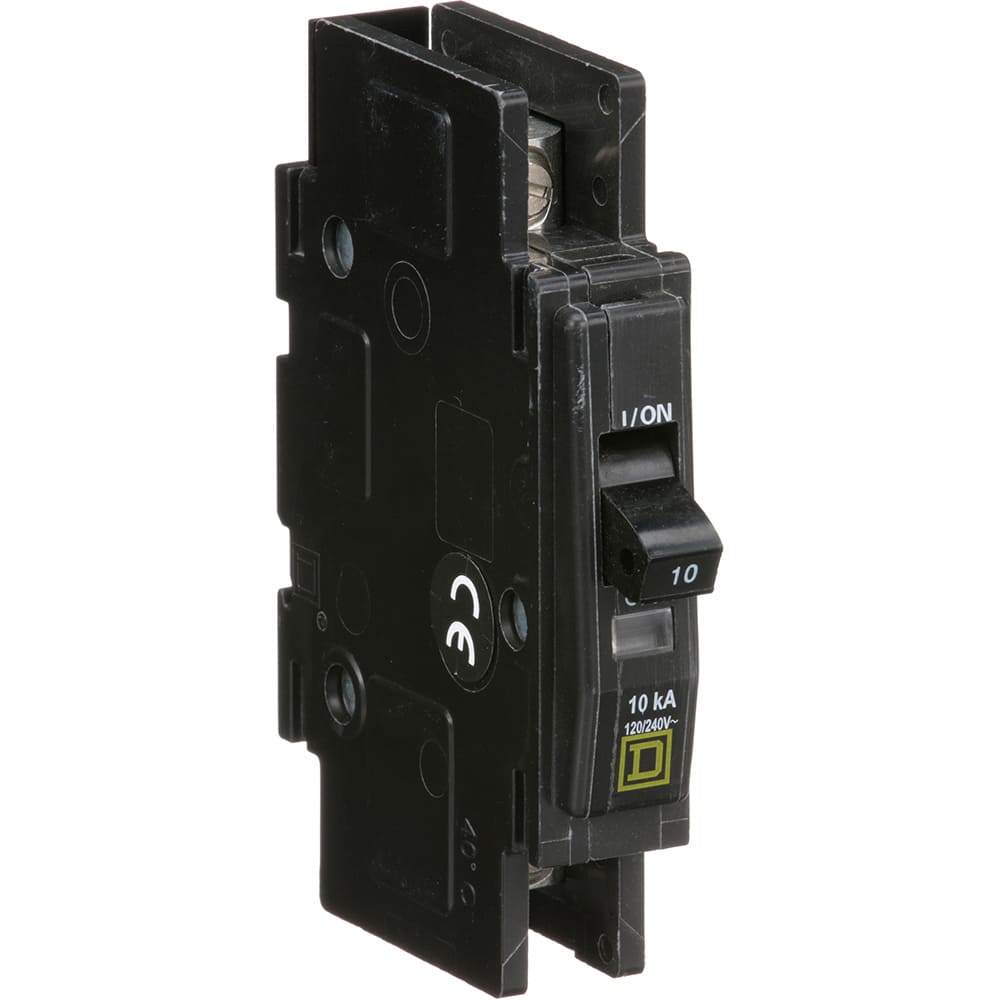 Square D Qou110 Circuit Breaker Miniature Thermal Magnetic 1 Contactor Pole Relay Wiring 10 A 120 240vac Din Rail Allied Electronics Automation