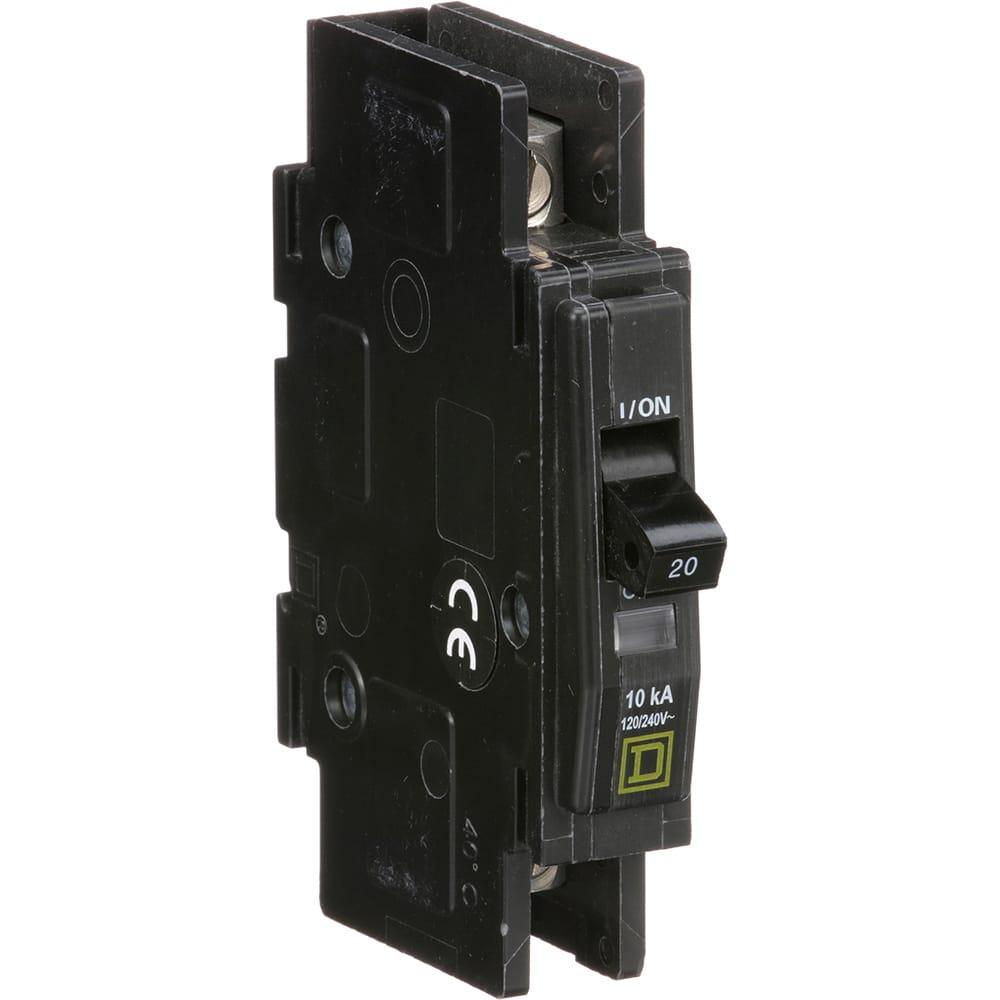 Square D Qou120 Miniature Circuit Breaker 1 Pole 20a Unit Off Module View Mount 120 240vac Allied Electronics Automation