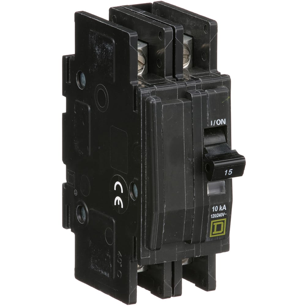 Square D Qou215 Circuit Breaker Miniature Thermal Magnetic 2 Off Module View Pole 15 A 120 240vac Din Rail Allied Electronics Automation