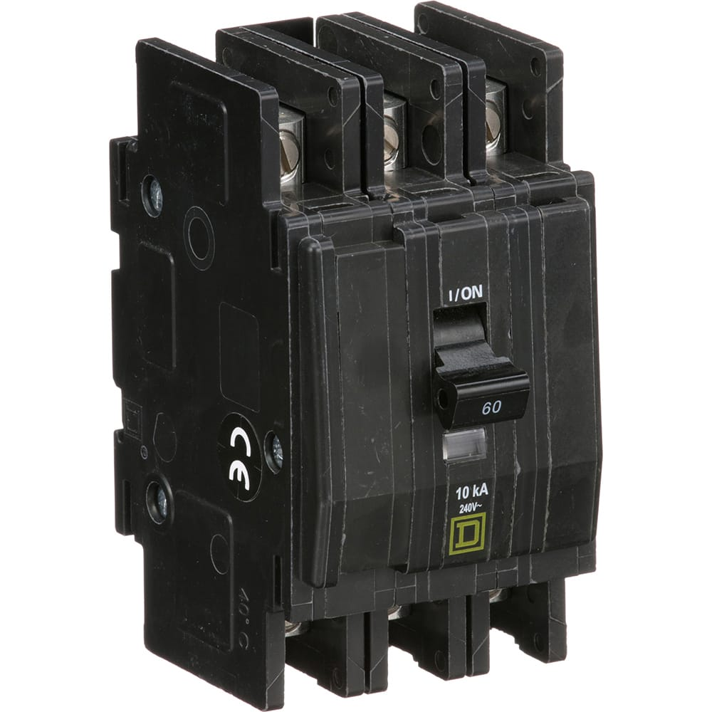 Square D Qou360 Circuit Breaker Miniature 3 Pole 60a 240vac Switches Rotary Ac Switch Off Positions 240v 65a Mtgflush Surface Or Din Allied Electronics Automation