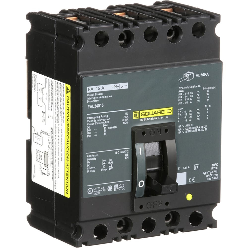 Square D Fal34015 Molded Case Circuit Breaker 480v 15a Allied Timer Interface Units Electronics Automation