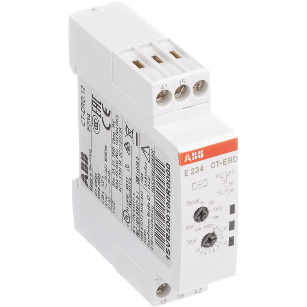 Abb 1svr500100r0000 Time Delay Relay On Din Rail Spdt Vdc Dip Reed All Electronics Corp Allied Automation