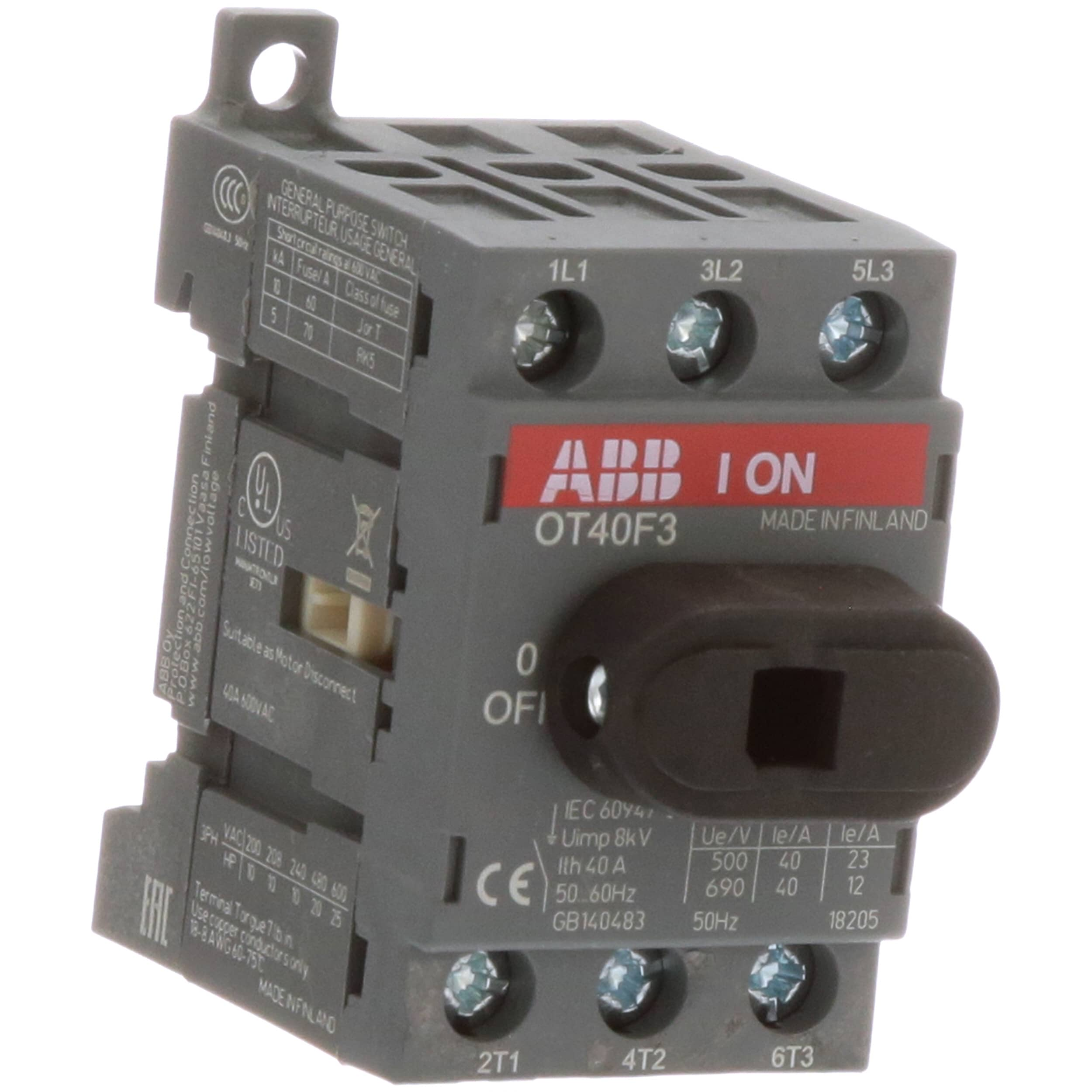 Abb Ot40f3 Disconnect Non Fusible Switch 3p 40a Ul508 New Snap Circuitsr Sound Scs185 Gtin Stock Now Allied Electronics Automation