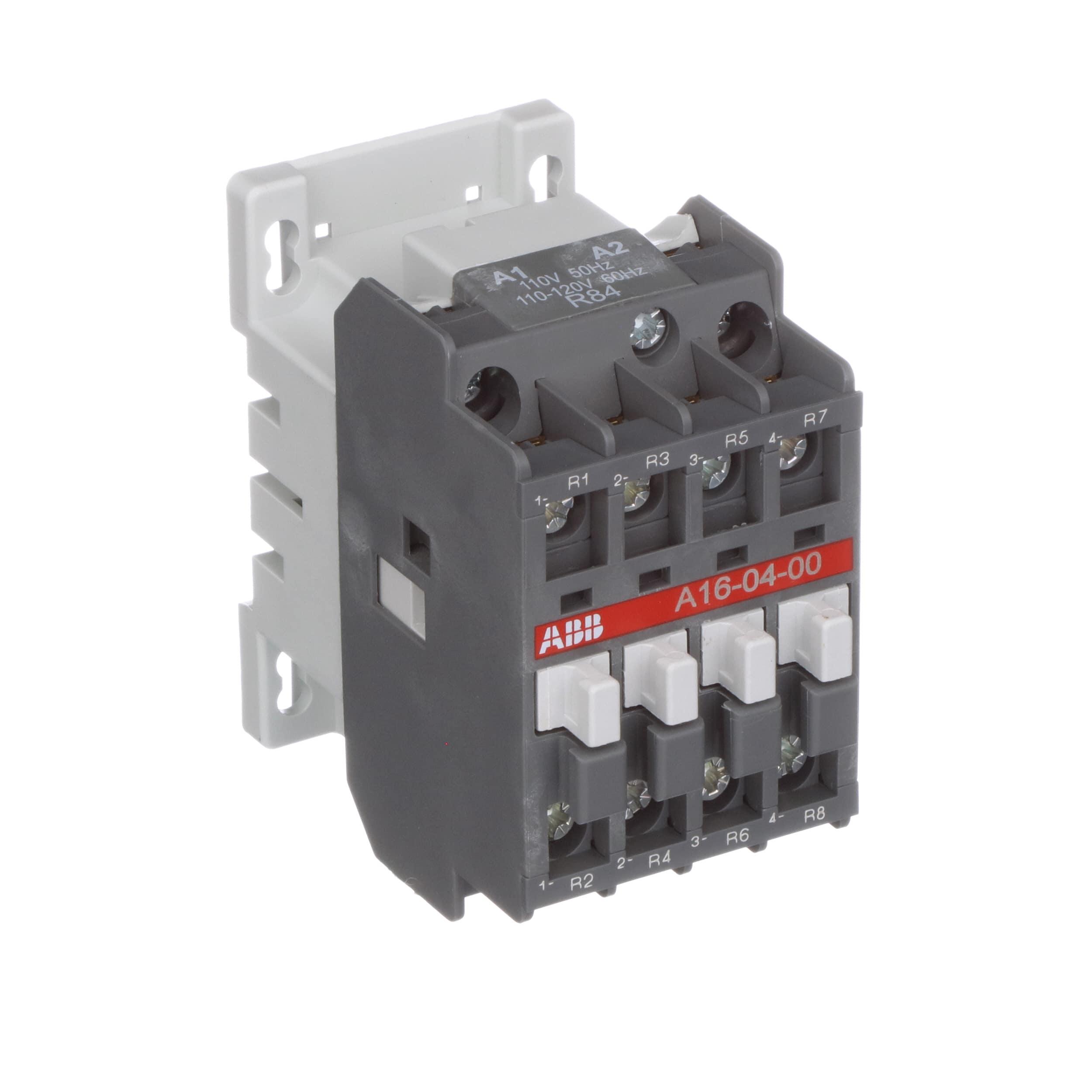 ABB - A16-04-00-84 - Contactor; Non-Reversing; 120VAC Coil; 30A; 4 ...