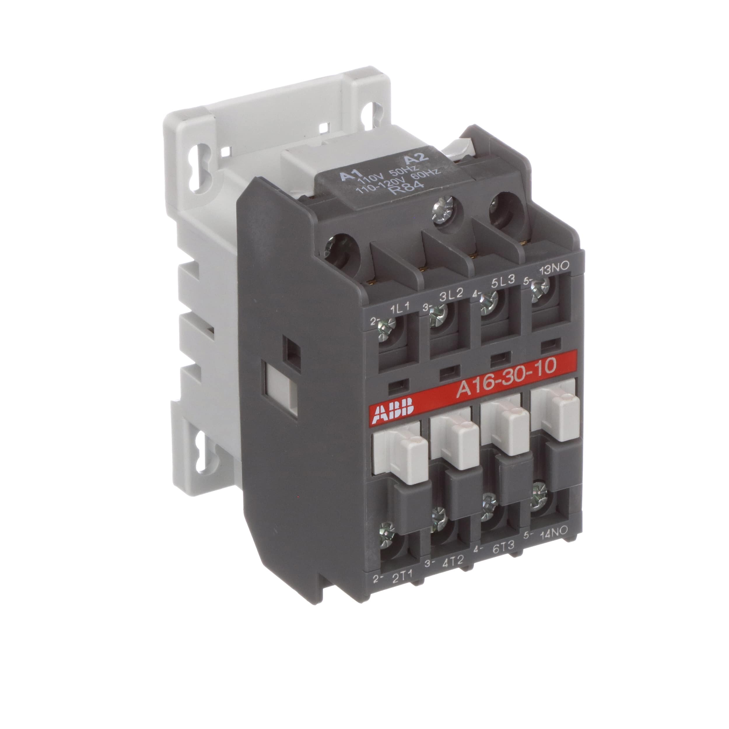 ABB - A16-30-10-84 - A16 3 Pole Contactor; 30 A; 7.5 kW; 110- 120 V Coil -  Allied Electronics & Automation