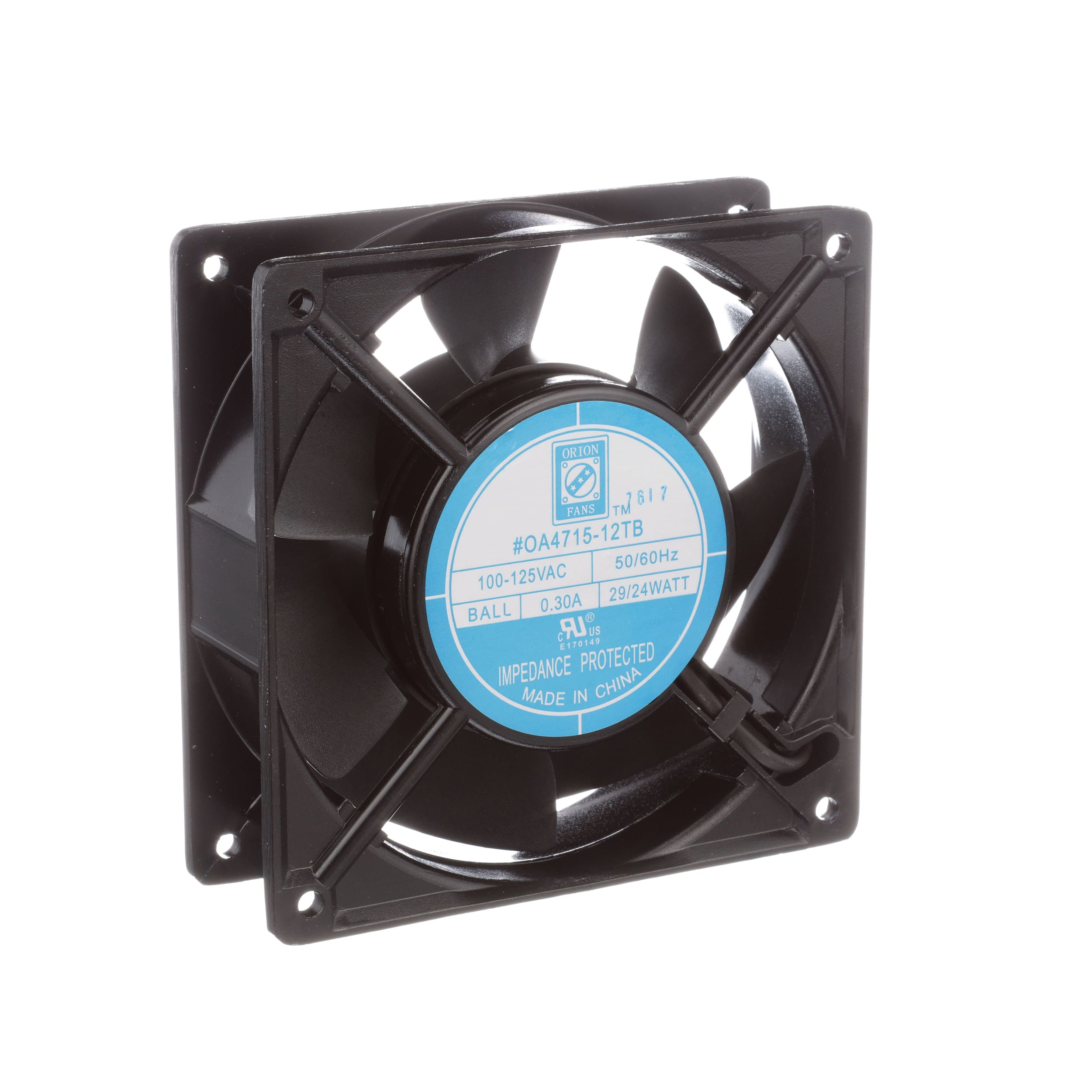 Orion Knight Electronics Inc Oa4715 12tb Fan Ac 120v 50 Controlled Circuit Using Thermistor Circuits 60hz 120x120x38mm Sq 110cfm 24w 44dba Terminals Allied Automation